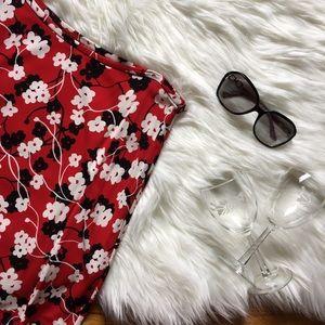 Ann Taylor Matte Jersey Floral Print Skirt